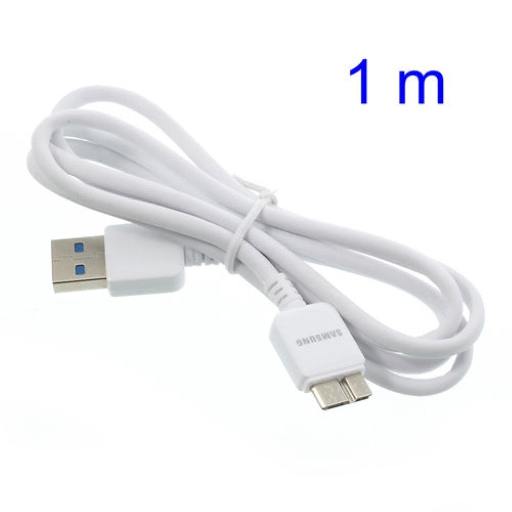 Image of   USB 3.0 TYPE A / MICRO-B KABEL - 1m. - Hvid
