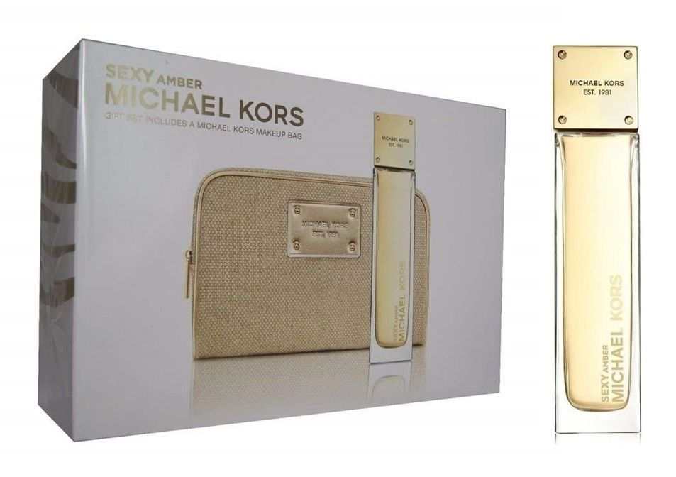 Image of   Michael Kors - Sexy Amber EDP 100ml + Toilettaske - Gavesæt - Kvinder