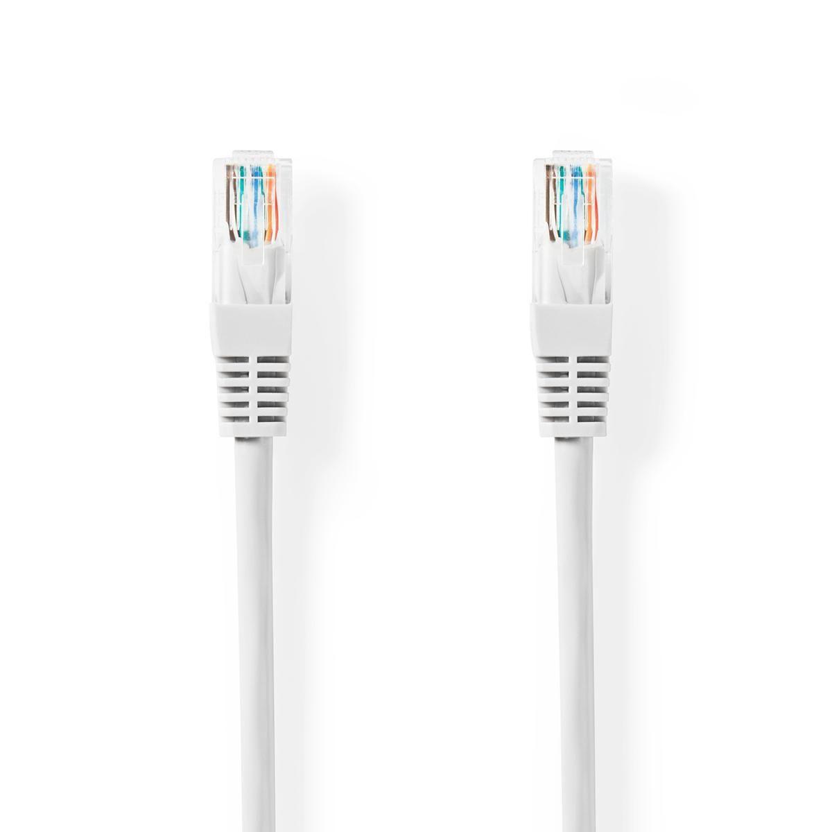 Billede af CAT5e UTP - Ethernet/Netværkskabel Rundt - RJ45 stik - 1000 Mbps - 30 Meter - hvid