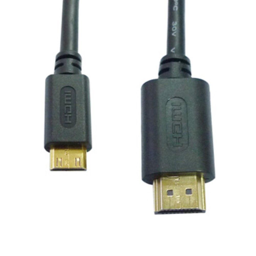 HDMI mini til HDMI kabel 1080p - Guld