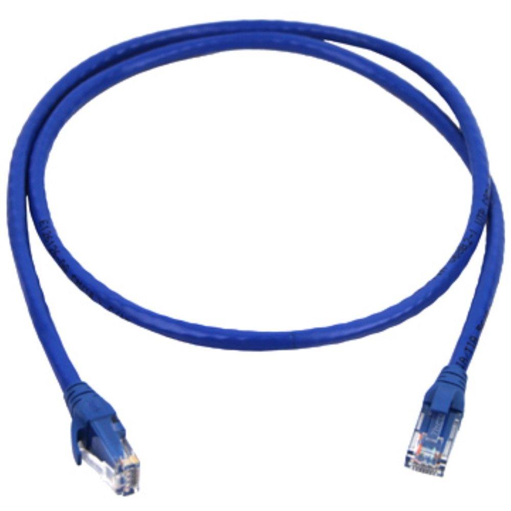 Billede af CAT-6 - Ethernet/Netværkskabel rundt - RJ45 stik - 10 Gbps - 3 Meter - Blå