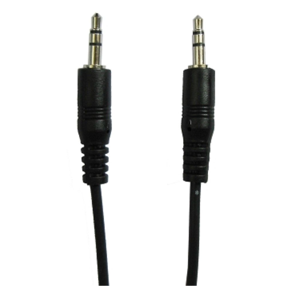 Audio Stereo 1.5m kabel 3.5mm / 3.5mm - Sort