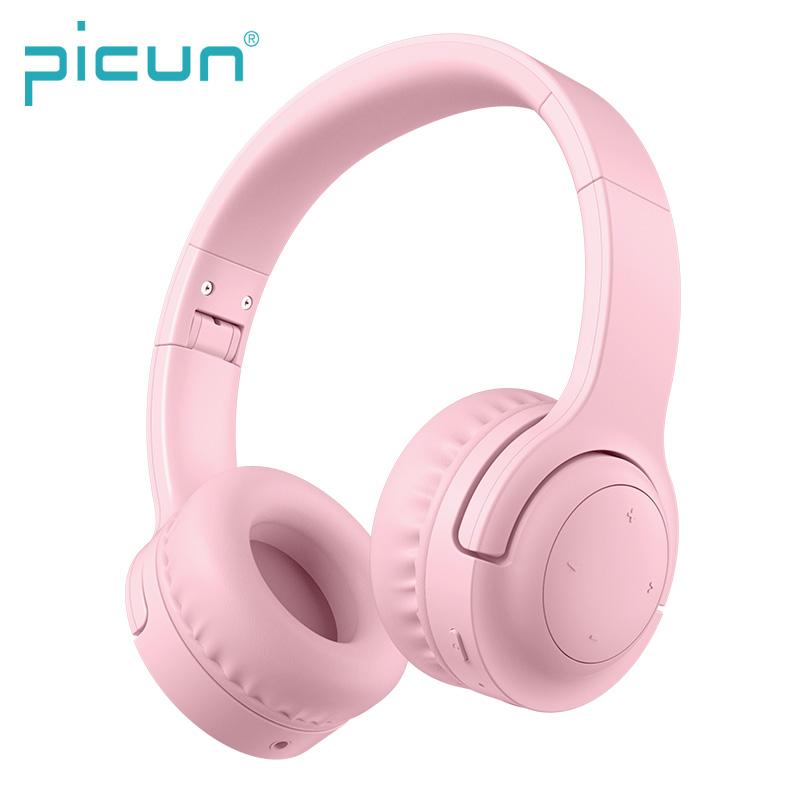 Billede af PICUN - Trådløse Høretelefoner til børn begrænset til 93db med mikrofon - Pink