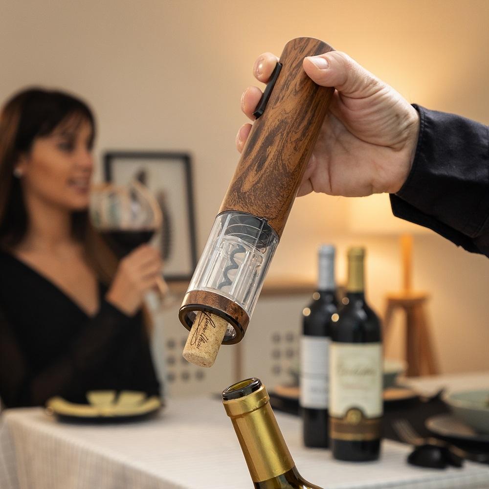 Kork vinoplukker – automatisk med LED lys indikator – genopladelig med USB