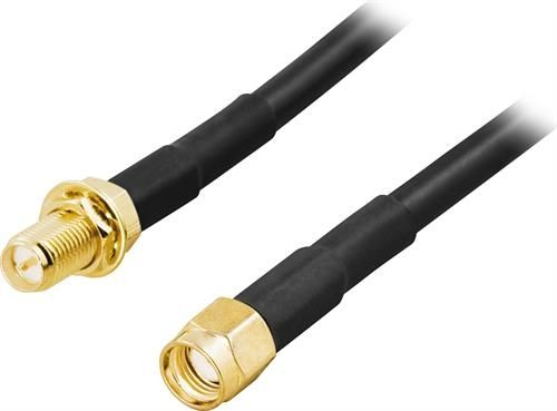Image of   Antennekabel, RP-SMA han til RP-SMA hun, 3m - Livstidsgaranti
