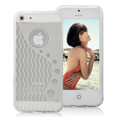 Image of   iPhone 5/5s/SE -Wave TPU cover - Hvid