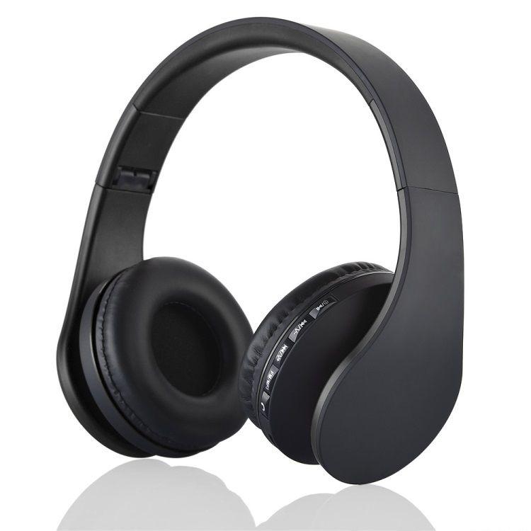 Image of   BTH-811 4-i-1 Over-øre Trådløs Bluetooth Hovedtelefon med Mikrofon - Sort