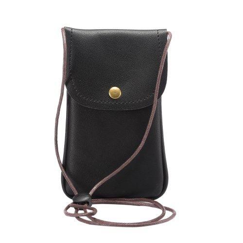 Image of   Universal læder Taske / pouch med Rem - Sort