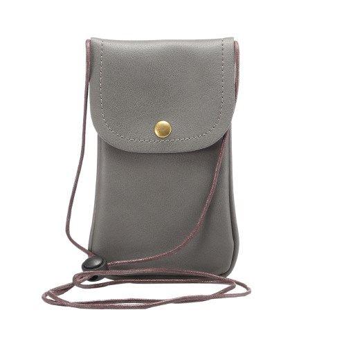 Image of   Universal læder Taske / pouch med Rem - Grå