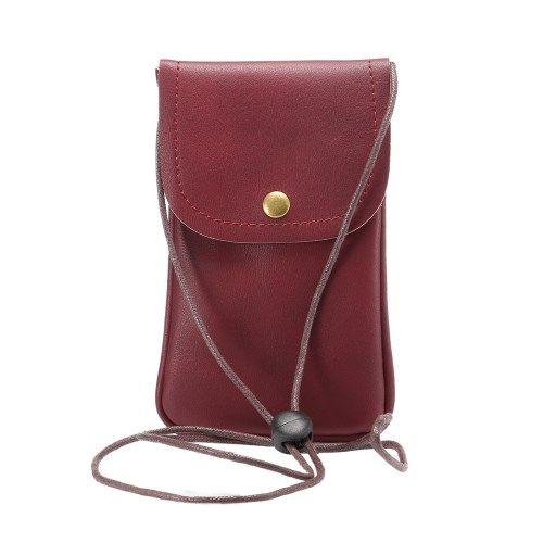 Image of   Universal læder Taske / pouch med Rem - Rød