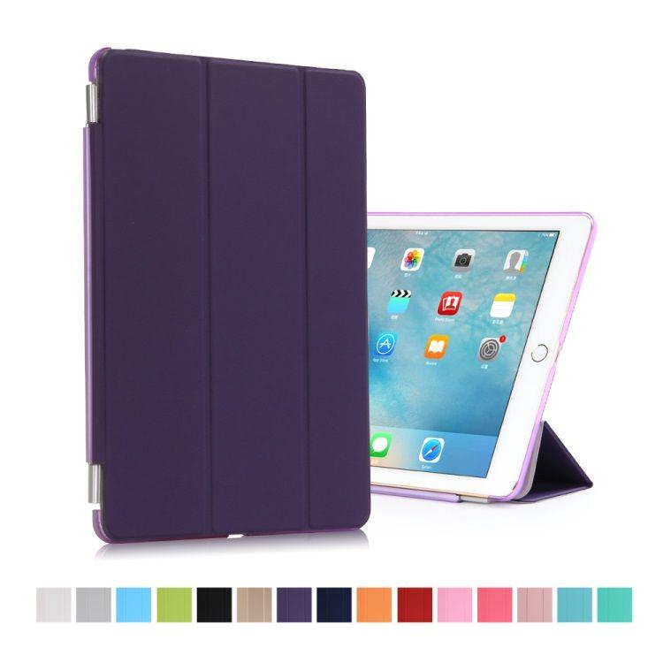 iPad Pro 9.7 - Tri-fold Stand Smart Læder Cover - Lilla