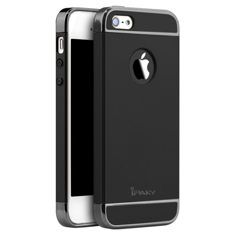 Image of   iPhone 5/5S/SE - IPAKY Passende PC Hard Back Cover - Sort