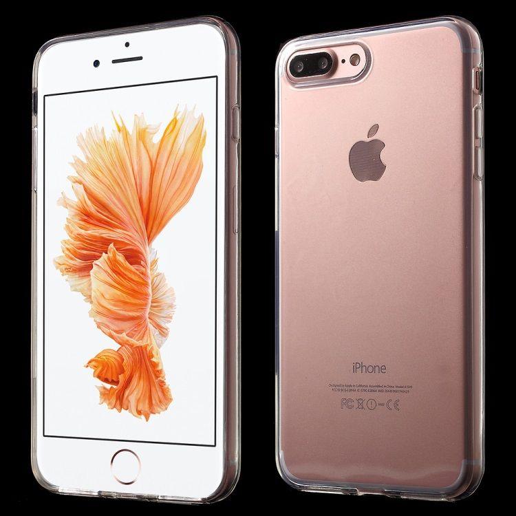 iPhone 8 Plus/7 Plus - Klart Blankt Gummi TPU Cover - Transparent