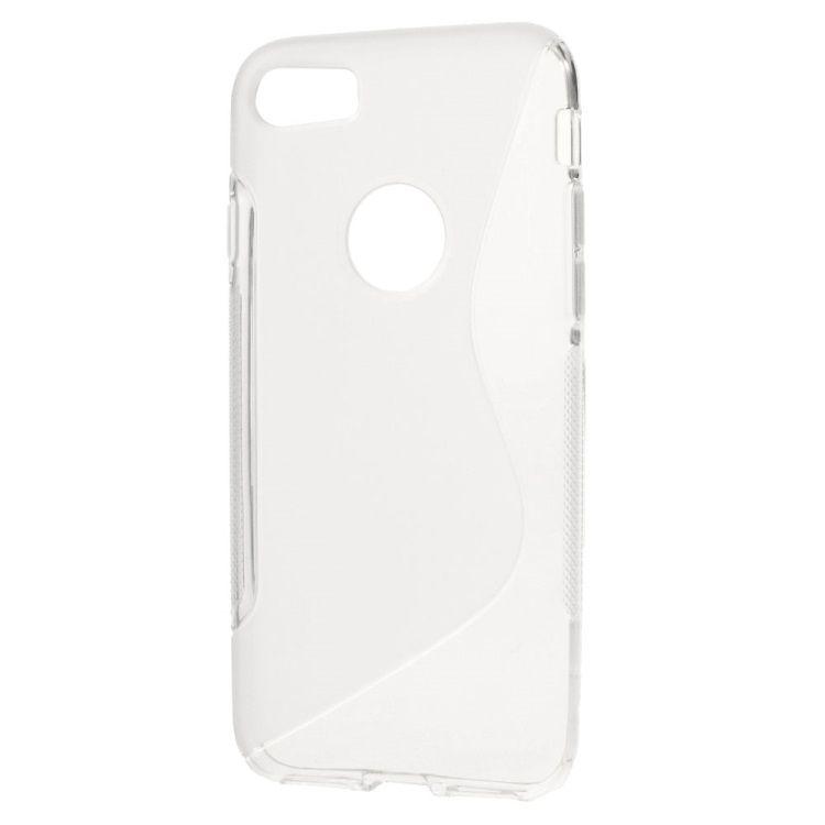 Iphone 7 - S Shape TPU etui - Transparent