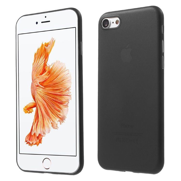 Image of   Iphone 8/7 - Ultra tynd 0.3mm Hard PC cover - sort