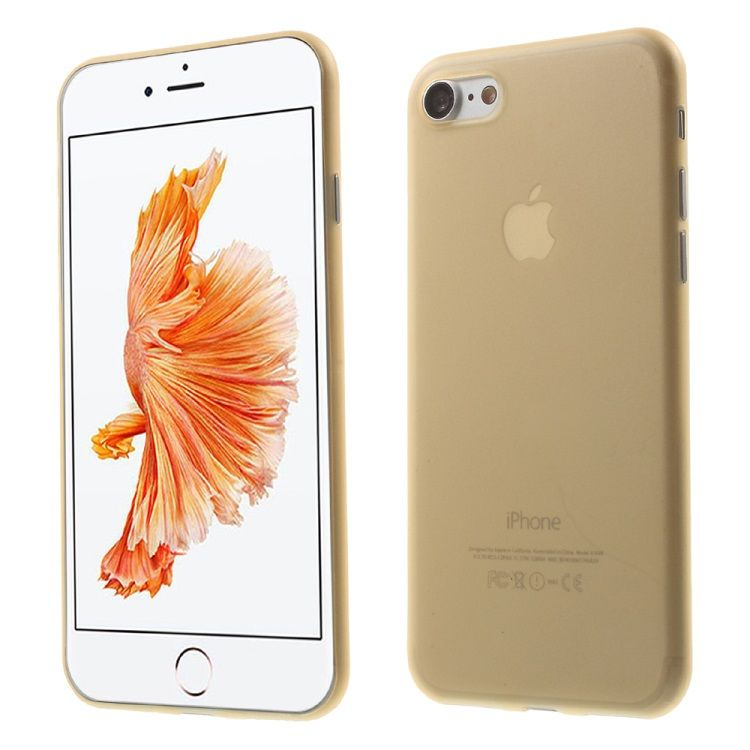 Iphone 7 - Ultra tynd 0.3mm Hard PC cover - Guld