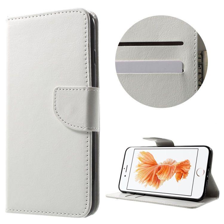 Iphone 8 Plus/7 Plus - PU læder pung med kortslots - Hvid