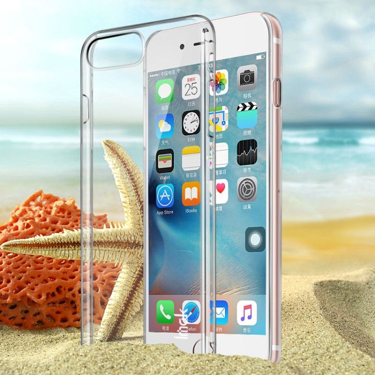 Image of   Iphone 8/7 - IMAK Crystal case II Ridse resistent Hardcover - Transparent