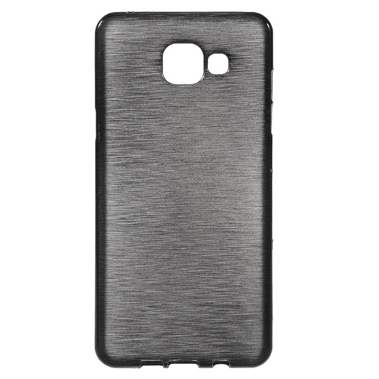 Image of   Galaxy A5 (2016) - Børstet TPU Cover - Sort