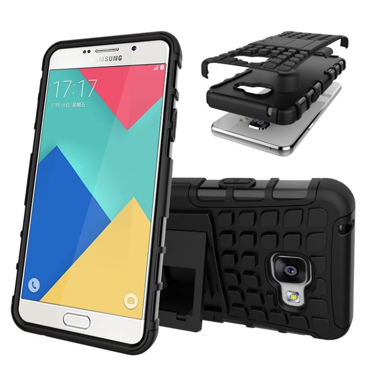 Image of   Galaxy A3 2016 - Hybrid Cover med Stand - Sort