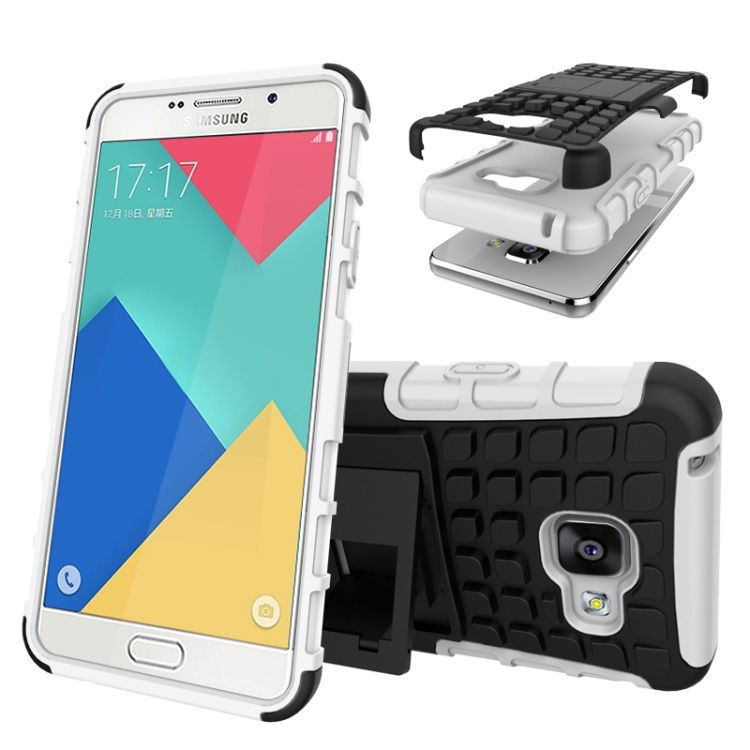 Image of   Galaxy A3 2016 - TPU og PC Hybrid Cover med Stand - Hvid