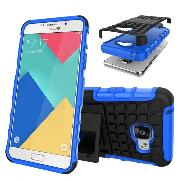 Image of   Galaxy A3 2016 - TPU og PC Hybrid Cover med Stand - Blå