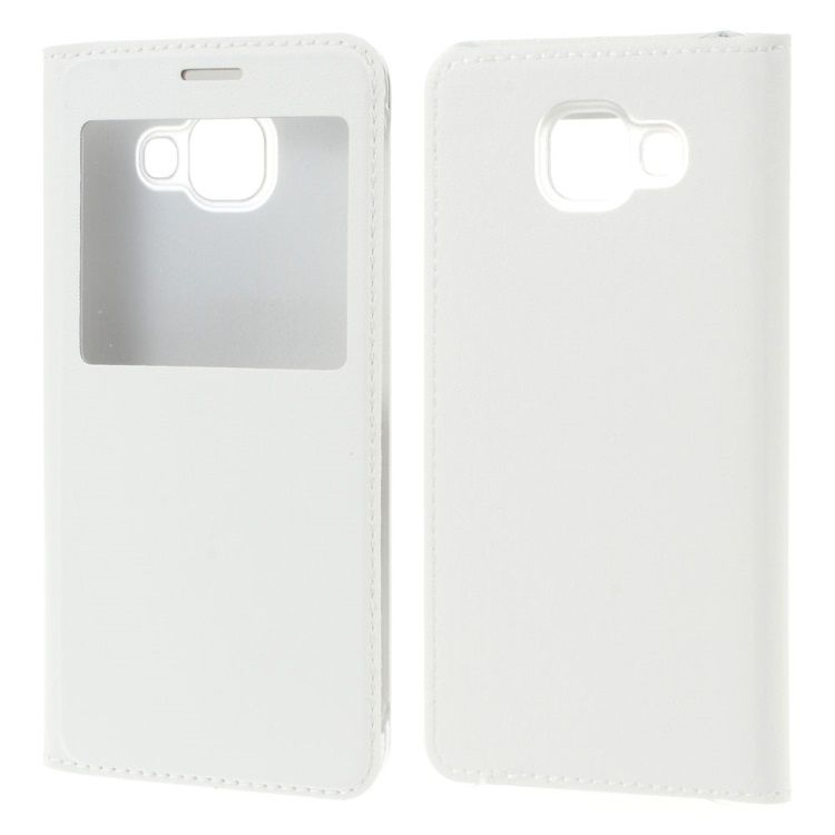 Image of   Galaxy A3 2016 - Flip PU Læder Cover med View - Hvid