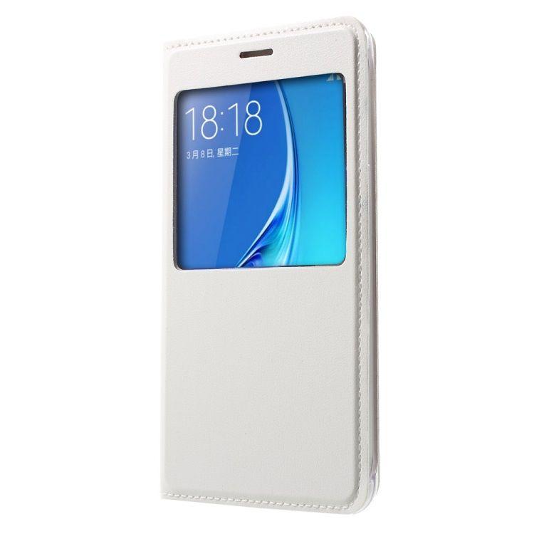Image of   Galaxy J5 (2016) - PU Læder Flip Etui med View - Hvid