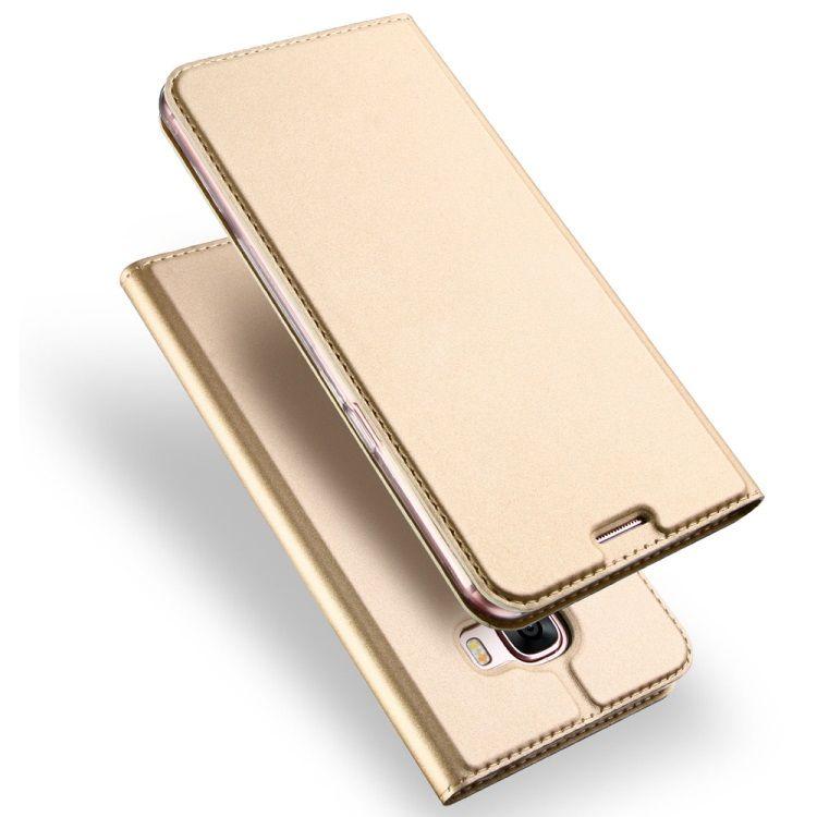 Image of   Galaxy A5 (2017) - DUX DUCIS Skin Pro Series PU Læder Etui med Kortslots - Guldfarve