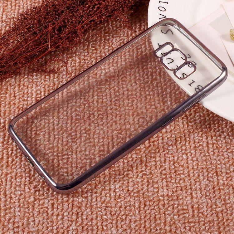 Galaxy S8 - TPU cover galvaniseret klar tynd - Grå