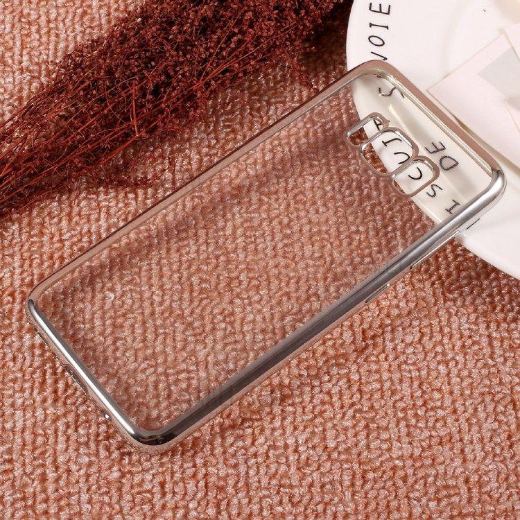 Image of   Galaxy S8 - TPU cover galvaniseret klar tynd - Sølv
