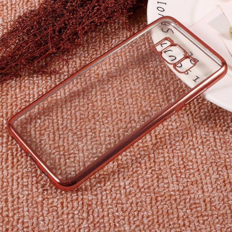 Image of   Galaxy S8 - TPU cover galvaniseret klar tynd - Rose guld