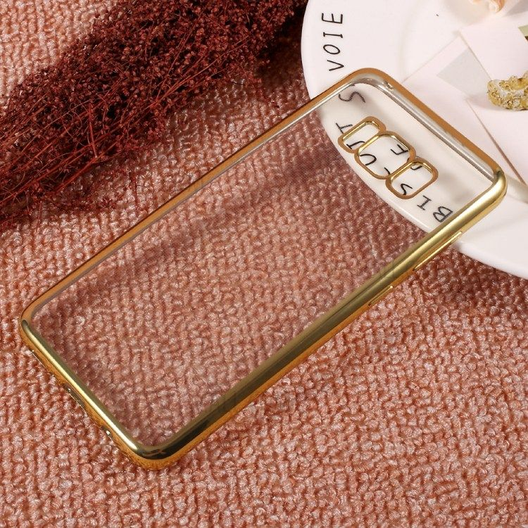 Image of   Galaxy S8 - TPU cover galvaniseret klar tynd - Guld