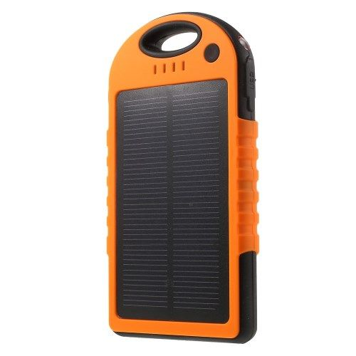 Image of   12000 mAh Soloplader Eksternt Batteri Powerbank til iPhone Samsung HTC - Orange
