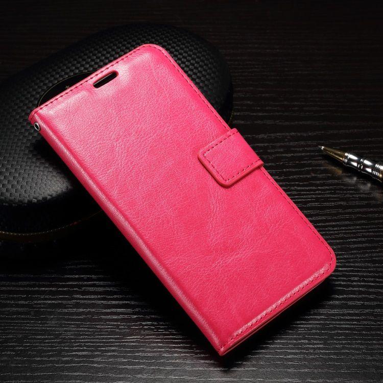 Huawei P9 - Læder Etui / pung med Skindmønster - Rosa