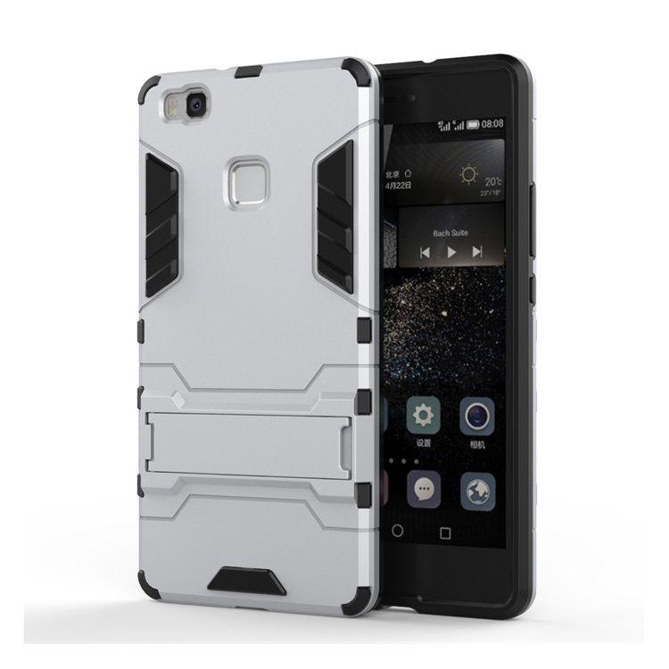 Image of   Huawei P9 Lite - Cool Stand Plastik + TPU Hybrid Etui - Sølv