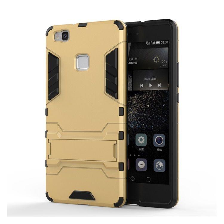 Image of   Huawei P9 Lite - Cool Stand Plastik + TPU Hybrid Etui - Guldfarve
