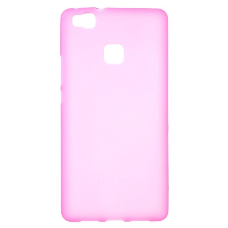 Huawei P9 Lite - Mat TPU Gummi Cover - Rosa