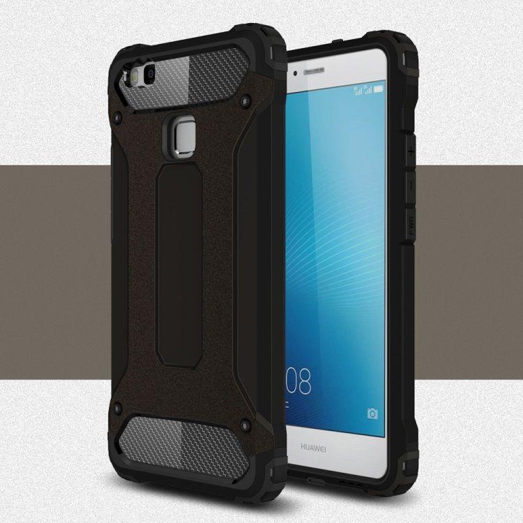 Image of   Huawei P9 Lite / G9 Lite - Armor Plastik og TPU Cover - Sort