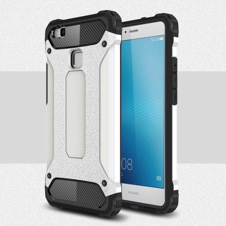 Image of   Huawei P9 Lite / G9 Lite - Armor Plastik og TPU Cover - Hvid