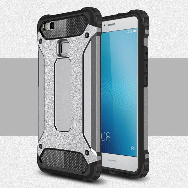 Image of   Huawei P9 Lite / G9 Lite - Armor Plastik og TPU Cover - Grå