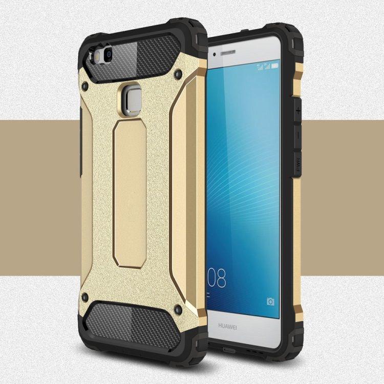 Image of   Huawei P9 Lite / G9 Lite - Armor Plastik og TPU Cover - Guldfarve