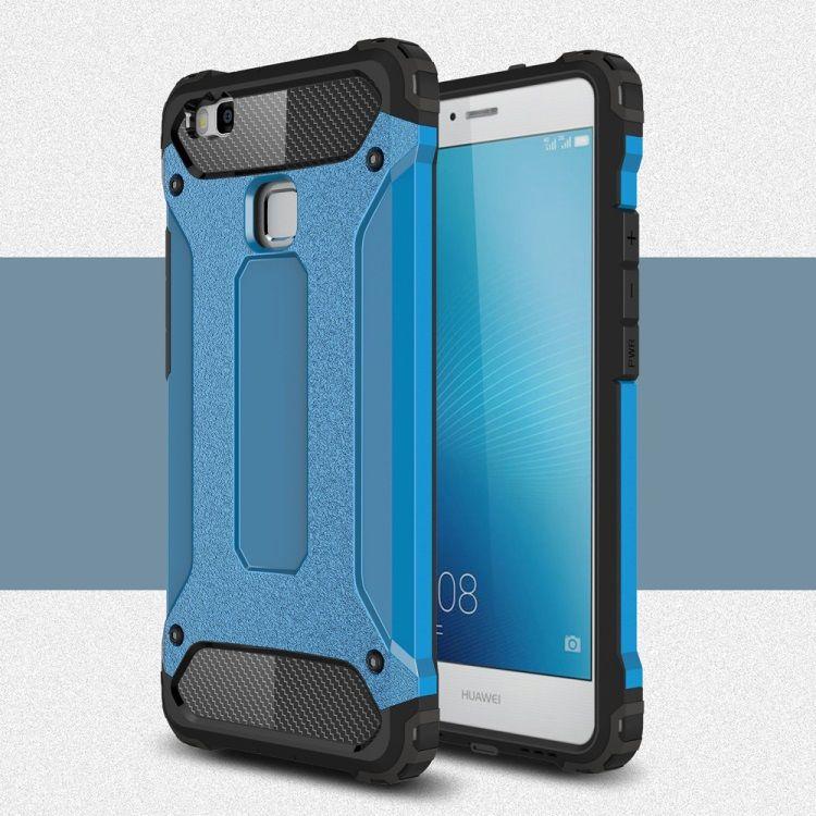 Image of   Huawei P9 Lite / G9 Lite - Armor Plastik og TPU Cover - Lyseblå