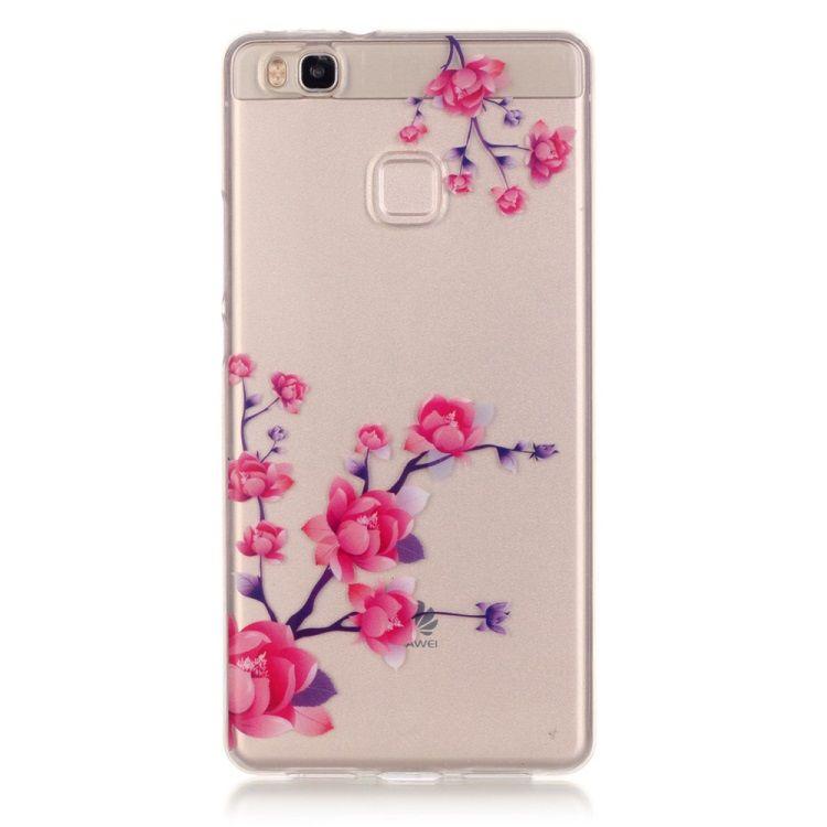 Image of   Huawei P9 Lite / G9 Lite - IMD Klart TPU Cover - Blomstrende Blomster