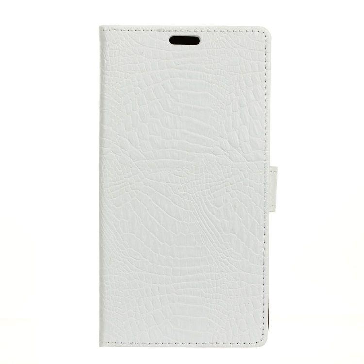 Huawei Mate 9 Pro - Krokodille PU Læder Pung Stand Etui - Hvid