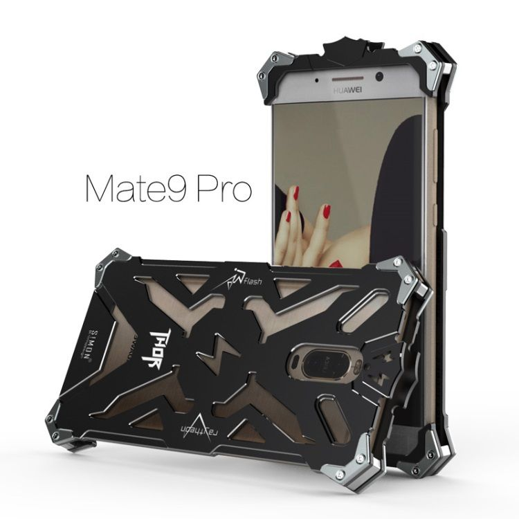 Image of   Huawei Mate 9 Pro - Cool Metal Aviation Aluminum Armor Cover - Sort
