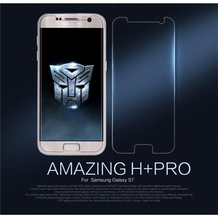 Image of   Galaxy S7 - Eksplosionssikker NILLKIN Amazing H+ PRO Hærdet Panserglas