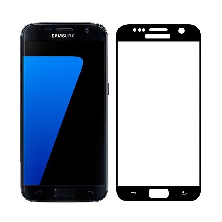 Image of   Galaxy S7 - FEMA Hærdet 3D Kurvet Panserglas med Silkeprint - Sort
