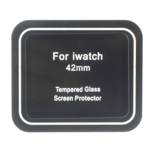 Image of   Apple Watch 42mm - Komplet Beskyttelse Hærdet Eksplosionssikker Panserglas