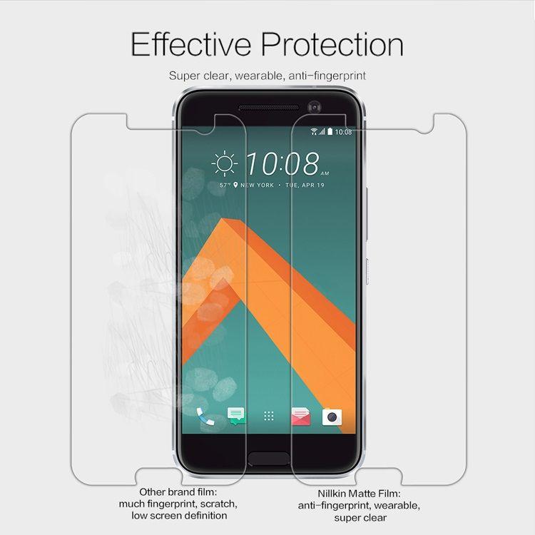 Image of   HTC 10 - NILLKIN Ridsesikker Mat Beskyttelsesfilm